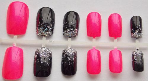 rosa com glitter