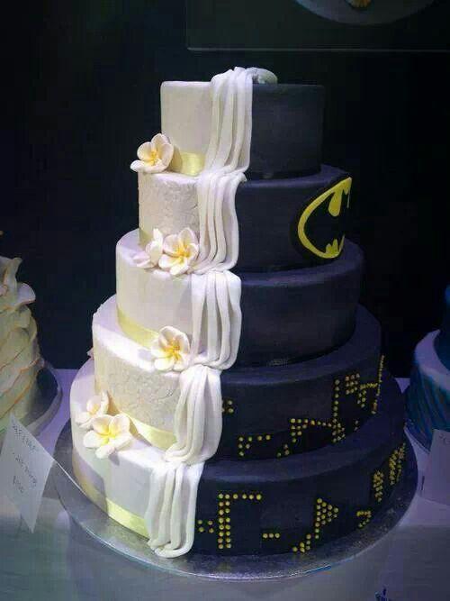 bolo de casamento batman