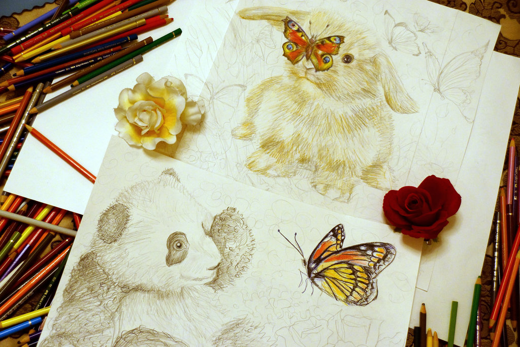 my_favourite_animals___sketch_by_alena_koshkar-d770gzp