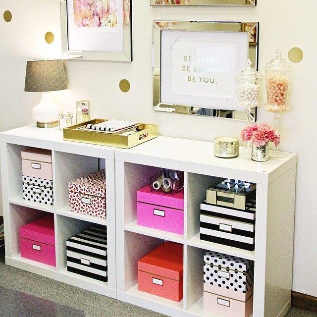 decoração caixas coloridas
