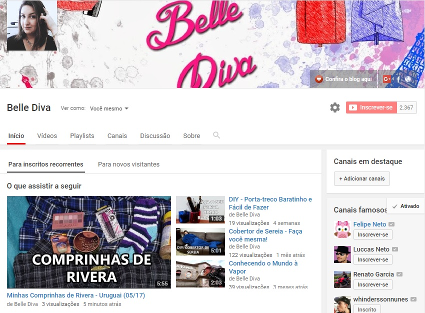 Belle Diva vídeo Uruguai